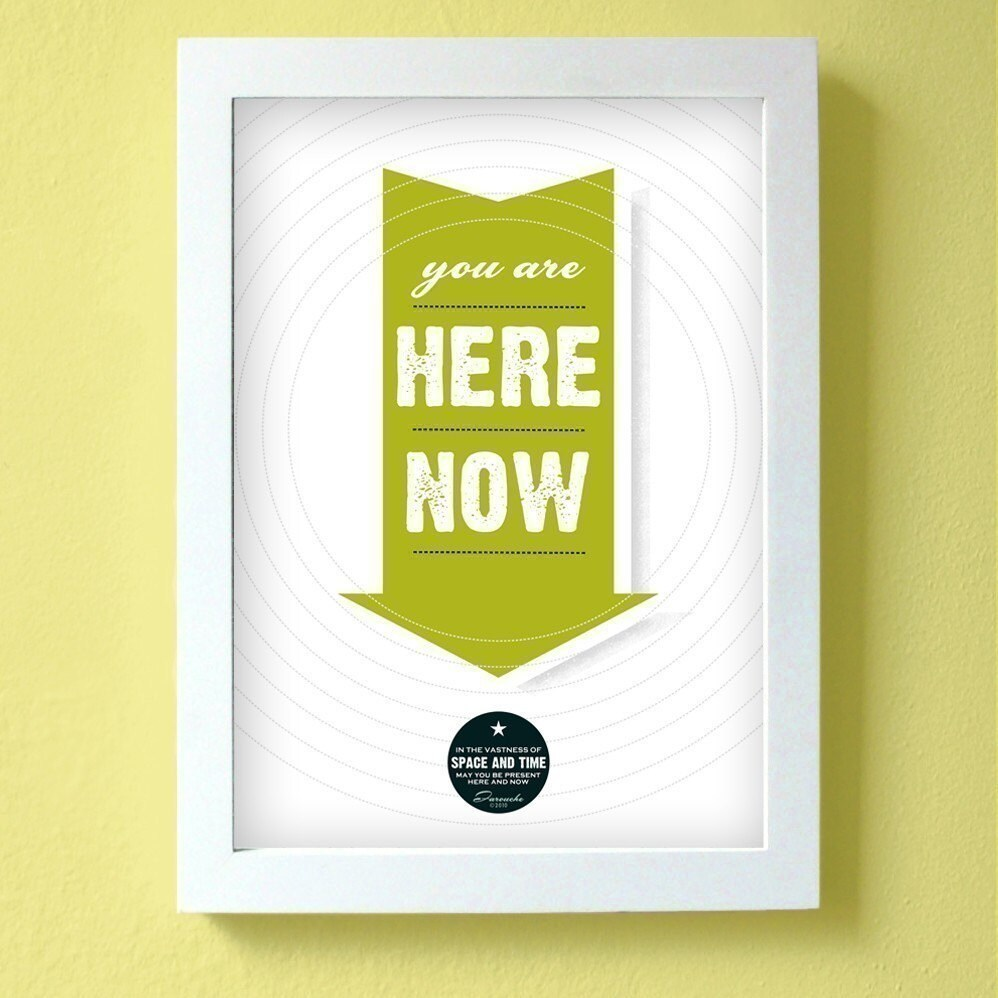 you are here now - large size - chartreuse green - farouche