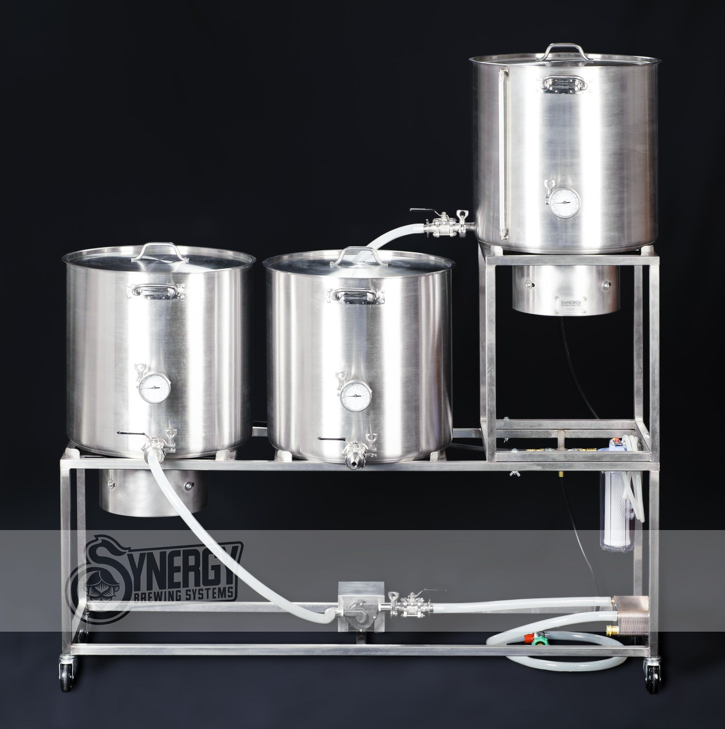 Home beer brewing system handbuilt by Synergy Brewing Systems