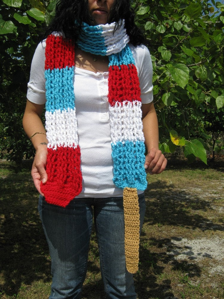 Rocket Popsicle Scarf Crochet Rockin Rocket Popsicle by PinkFrog4U from etsy.com