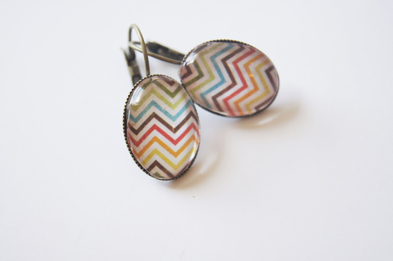 Rainbow Chevron Earrings