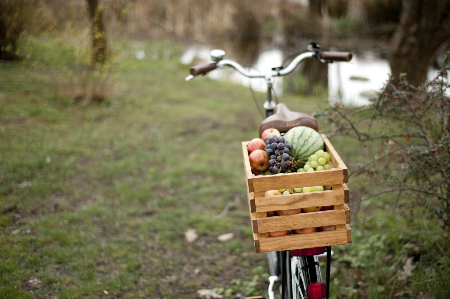 Wood Bike Basket - MacphersonCrateCo