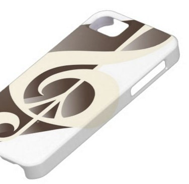 iPhone Case, iPhone 5, 4S, 4, 3GS, or 3G, Ebony Ivory Retro, Music, Peace Sign, Black, White, Cream, Music Lover, Piano, Ebony, Ivory - Inspireuart