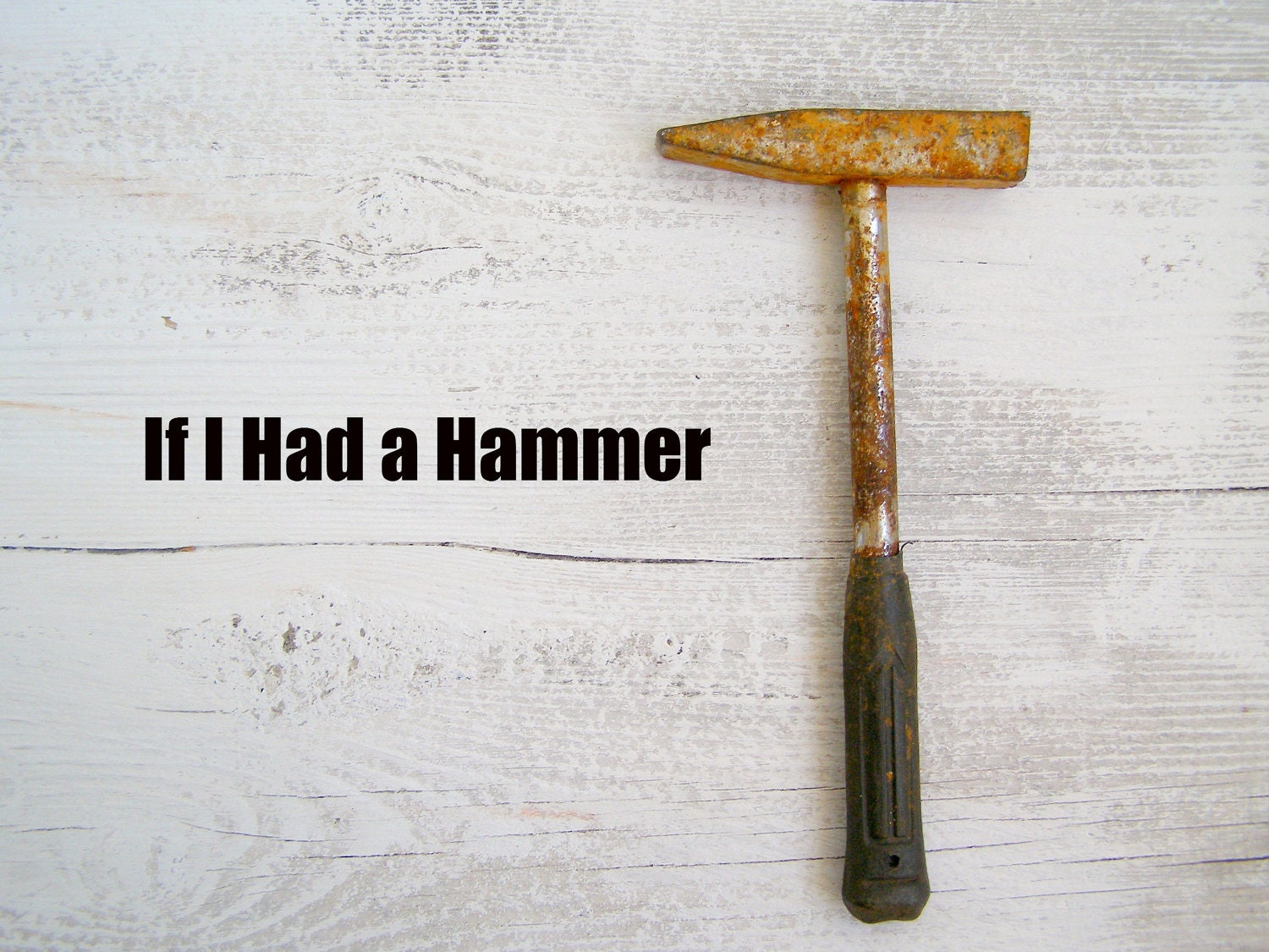 Vintage rusted hammer, industrial decor, vintage tool, compact hammer, gift for man, craft hammer, hardware - MeshuMaSH