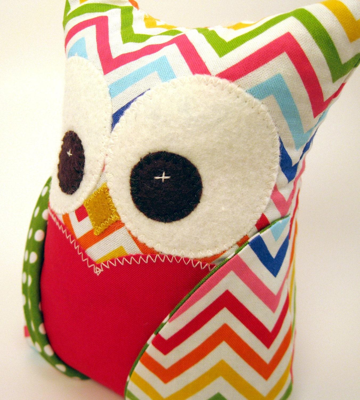 Chevron Owl Bookends