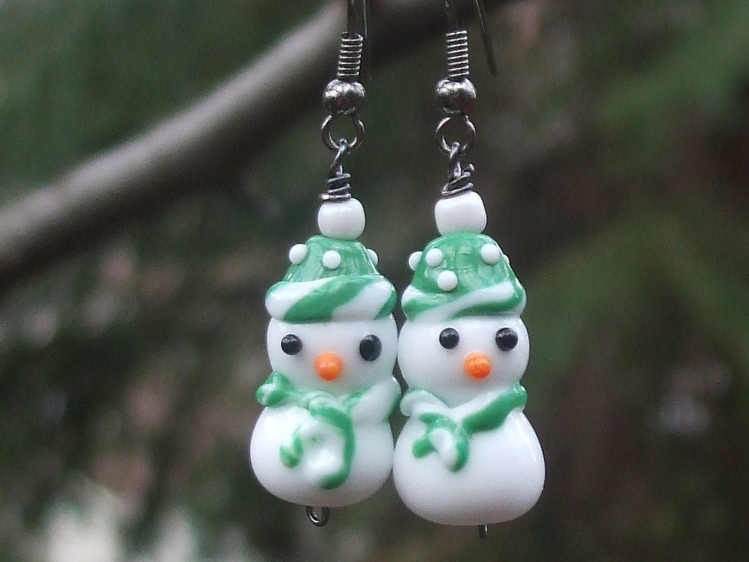MU Snowman Earrings