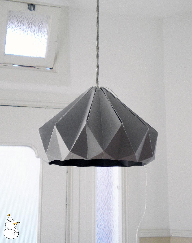 gray studio snowpuppe origami lampshades. Black Bedroom Furniture Sets. Home Design Ideas