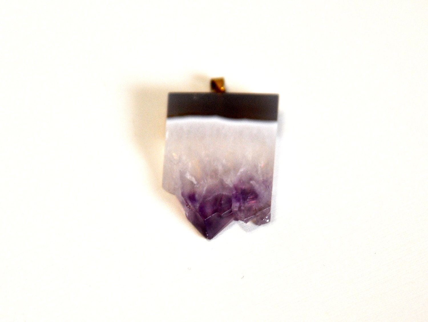 Raw Amethyst Stone Pendant - SALE ITEM deeply discounted
