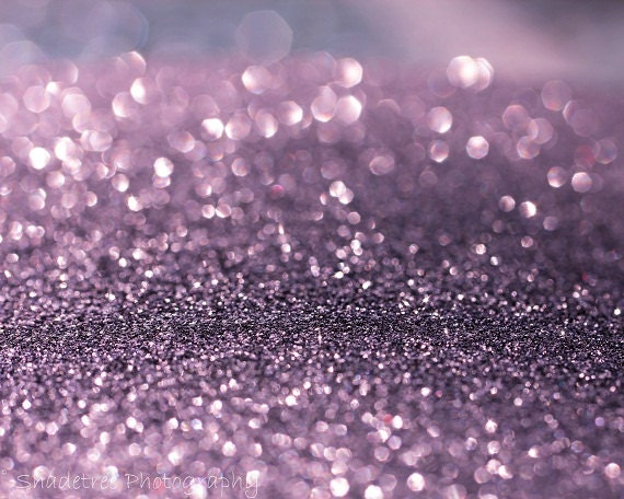Lavender Purple Bokeh Violet Whimsical Print White Sparkle Glitter Dreamy Surreal, 8 x 10 Fine Art Print - ShadetreePhotography