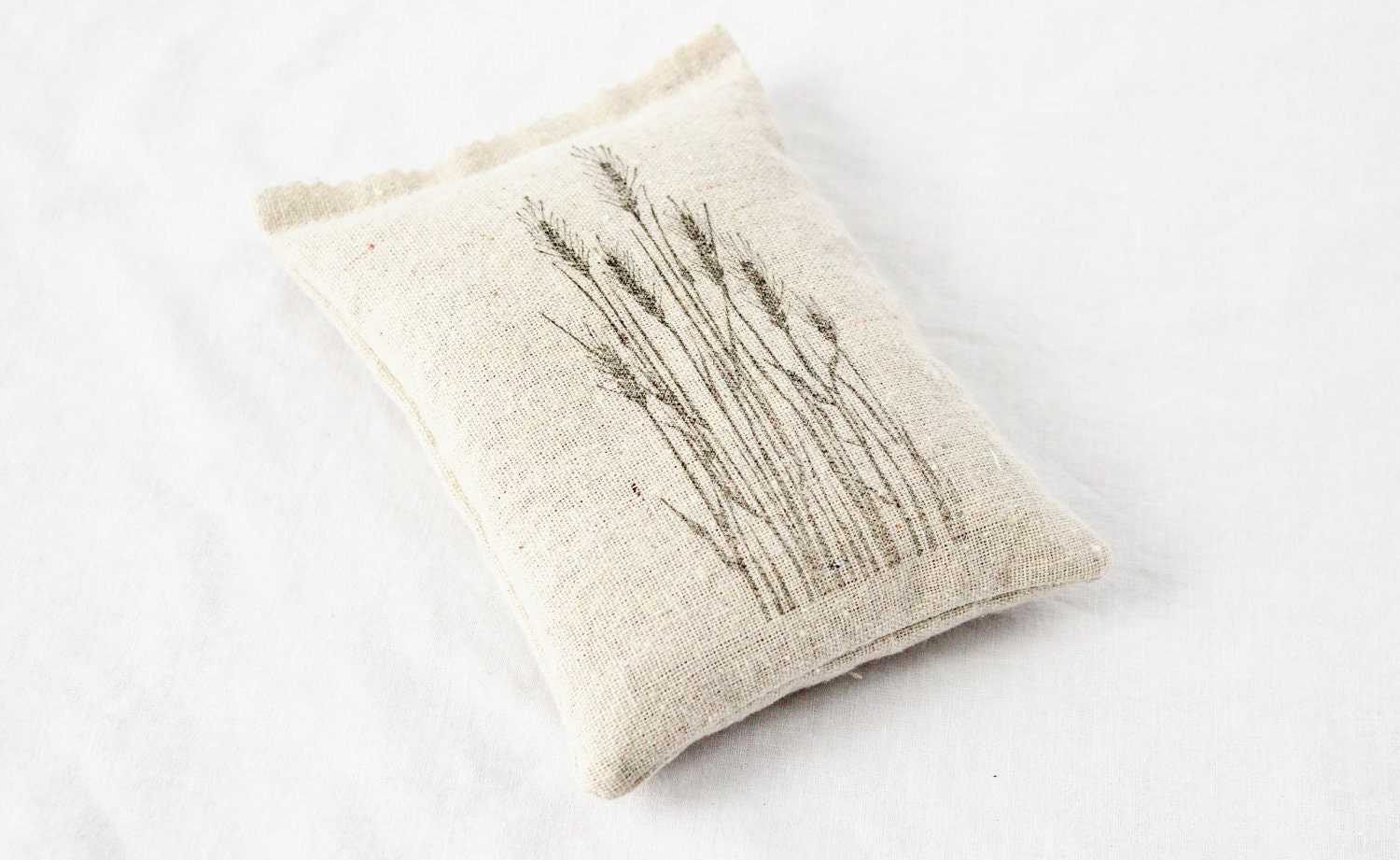 Botanical Art Sachet, Wheat Grass, Rustic