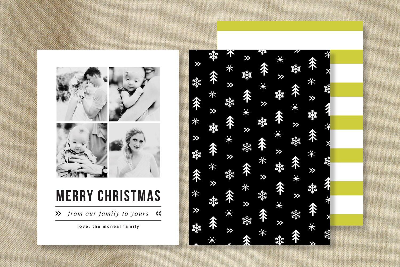 Holiday Card Templates for Photographers - Modern Christmas Photo Card ...