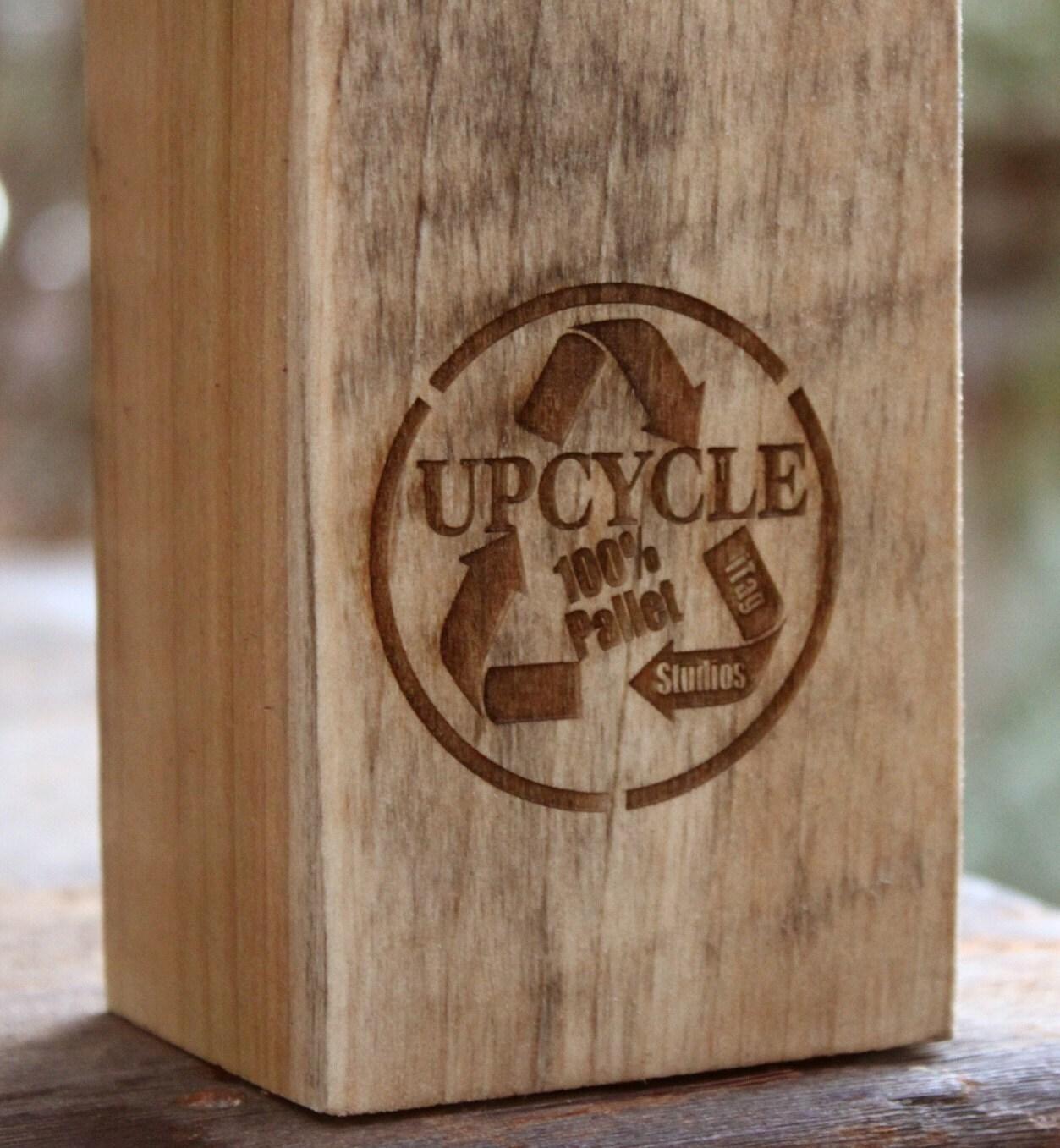 Pallet rústico taburete de madera Alto