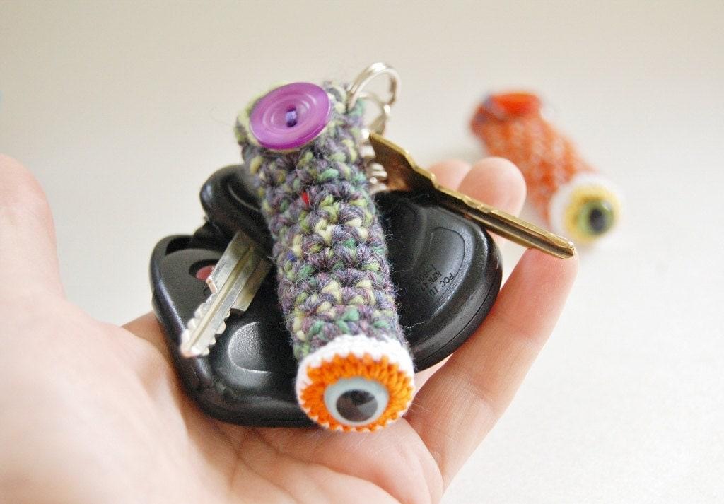 Lip Balm Monster Cozy Keychain - knotbygranma