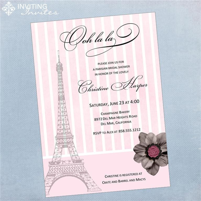 Eiffel Tower Bridal Shower Invitations was best invitation layout