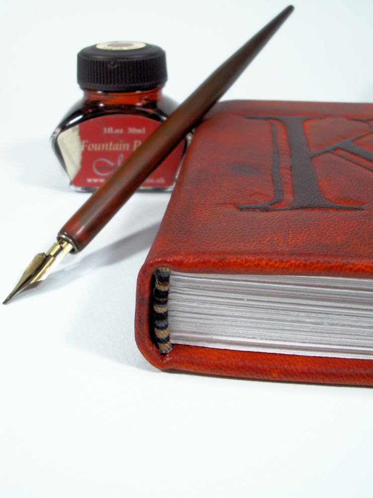 Personalized Custom Leather Journal, Mini - LadyArtisan
