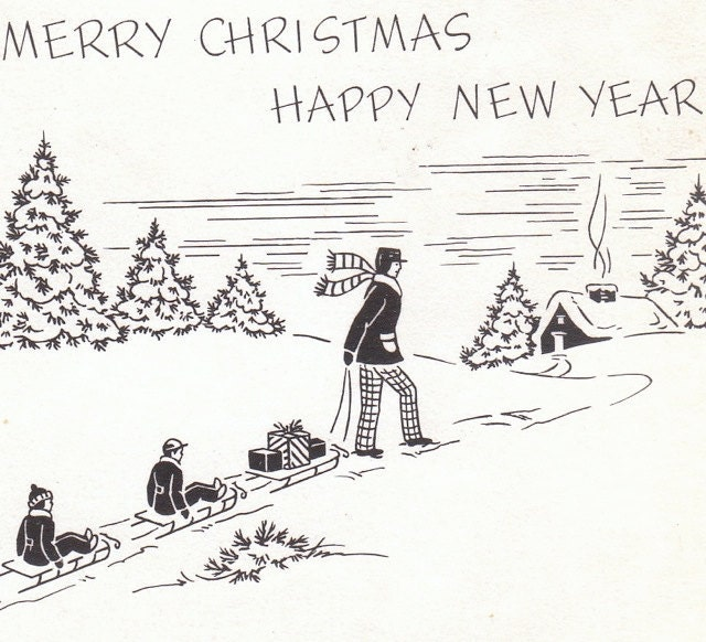 1940s Christmas Letter Insert