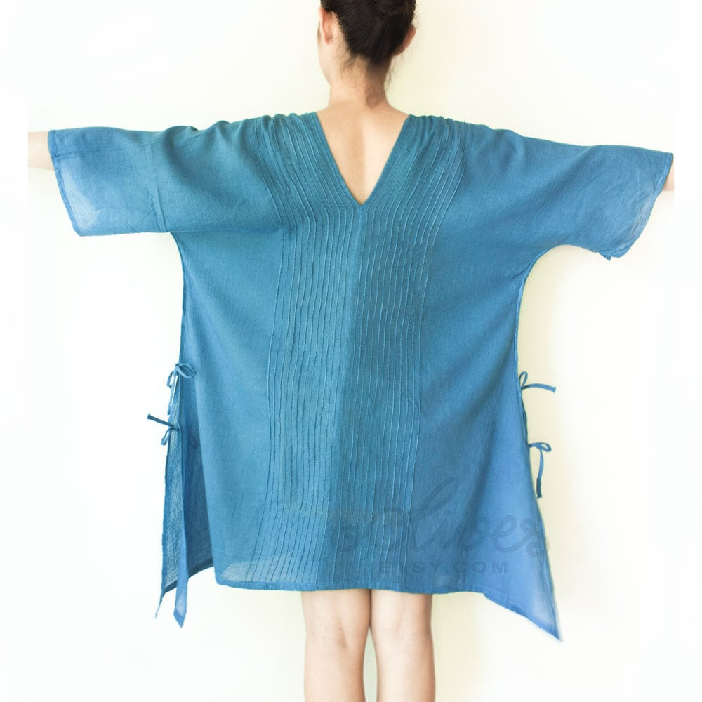 SALE.. Cotton Top in Turquoise, Large Size - oOlives