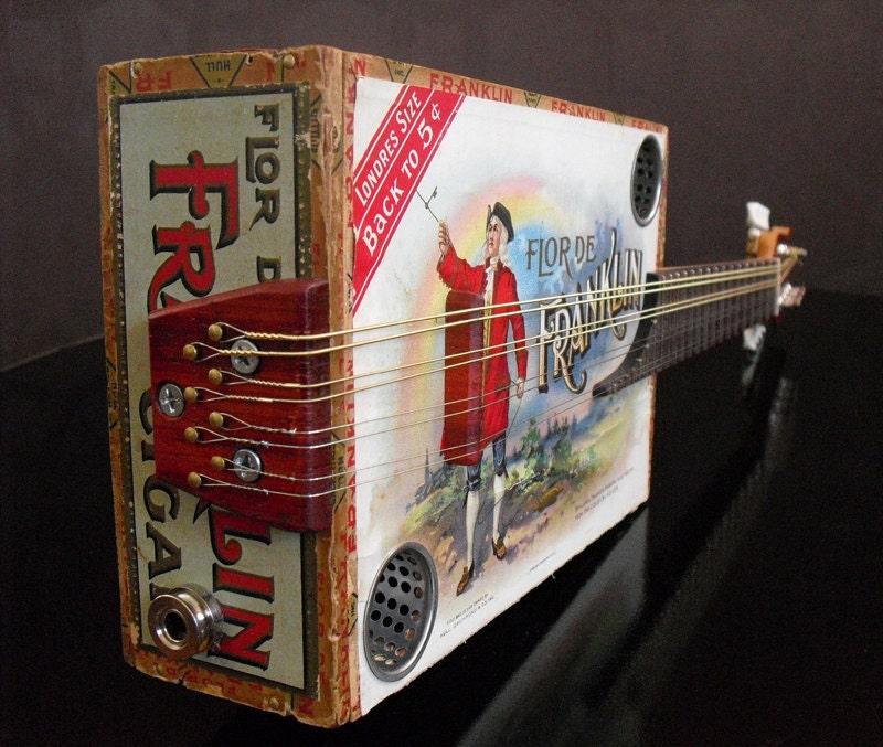 Cigar box mandolin from etsy