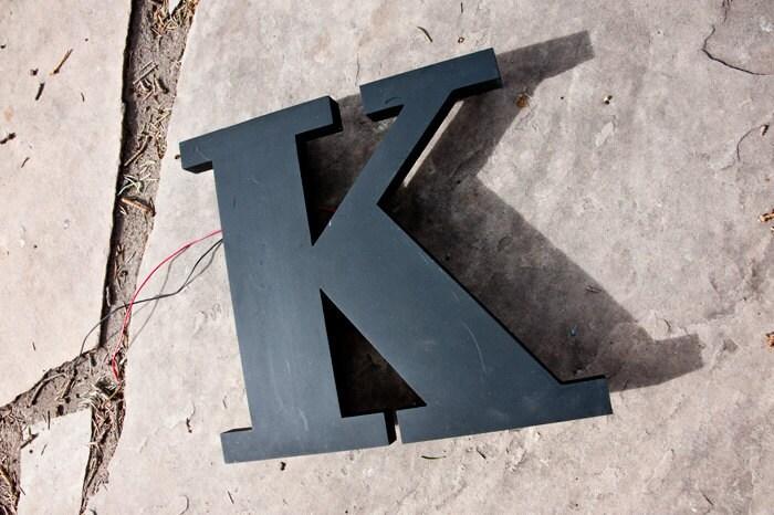 Vintage Sign Letter, Capital K