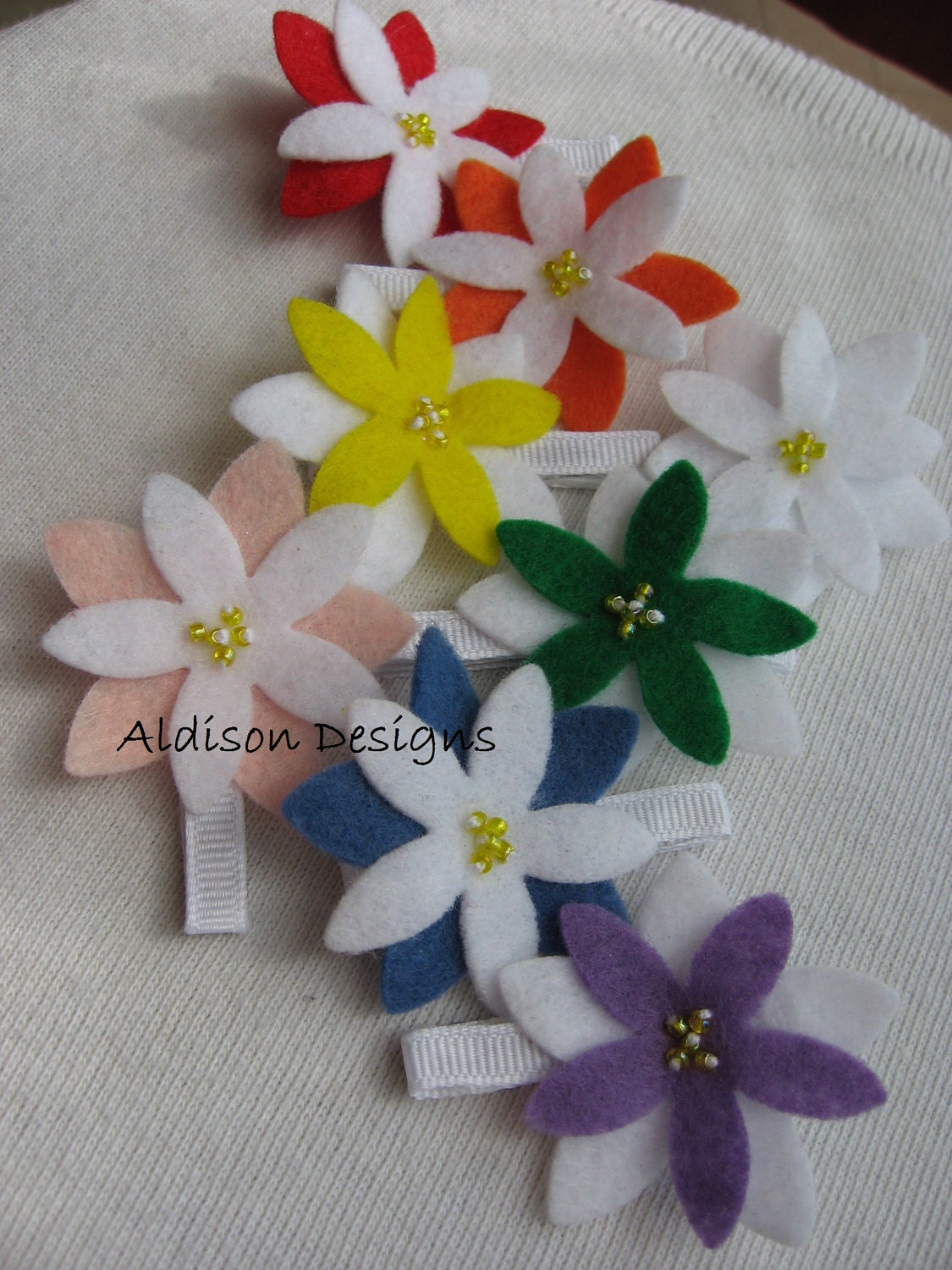 The Addison Hair Clip Set of 8