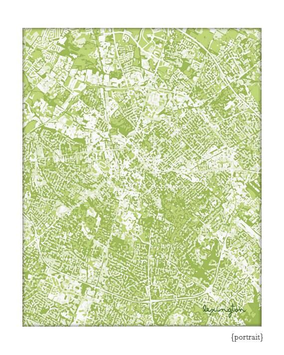 Lexington KY Cityscape / Kentucky Graphic City Map Art Print Grad Gift / 8x10 Dorm Decor / Choose your color