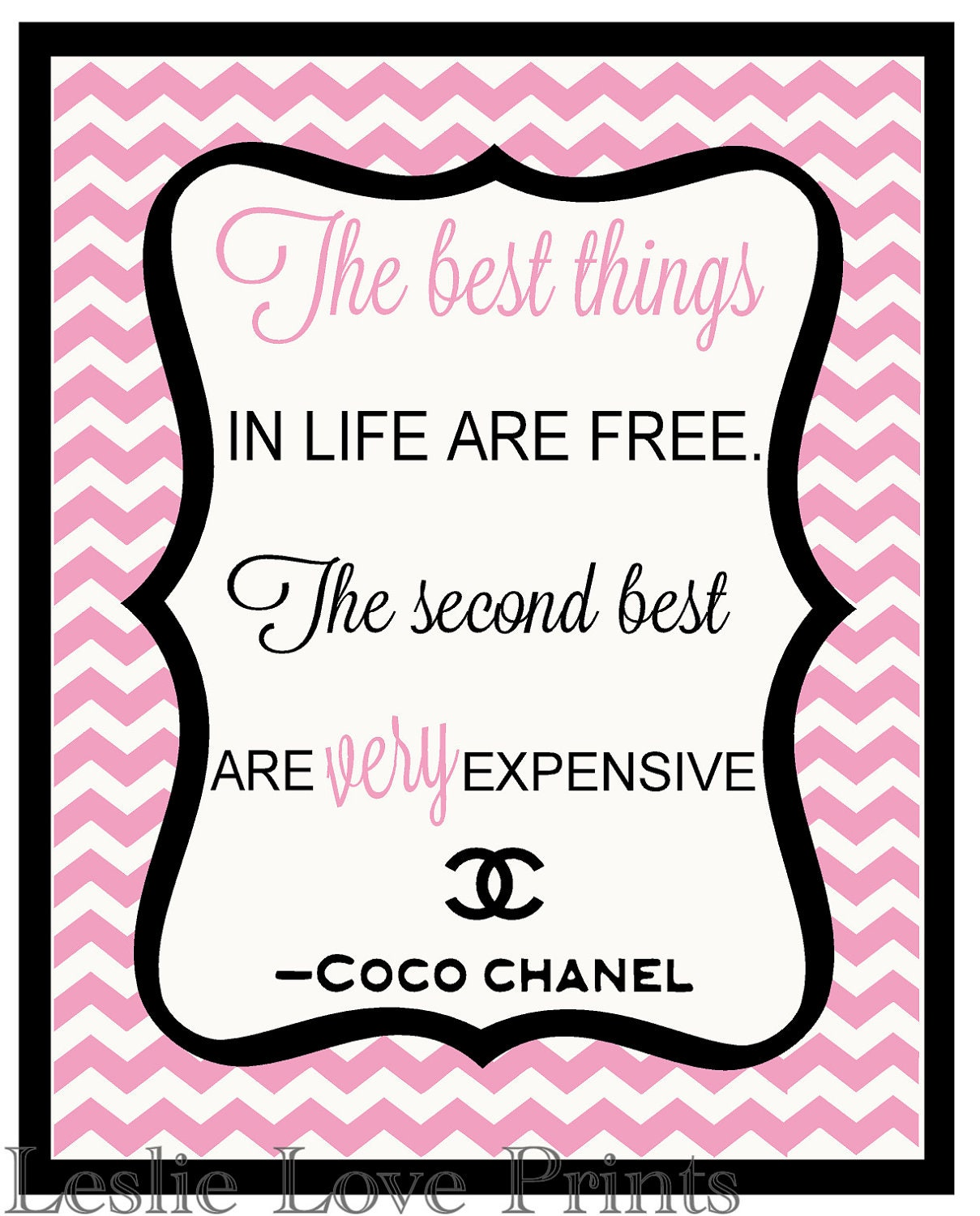 Cute Coco Chanel Quote - 8x10 Printable