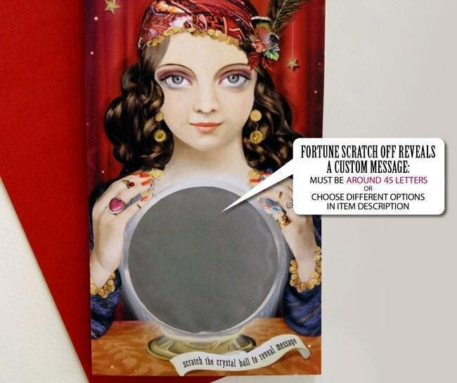 Fortune Teller Gypsy Custom Message Scratch Off Card