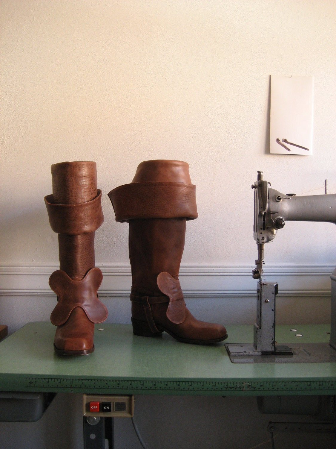 Custom Leather Bucket Boots - zerkahloostrah