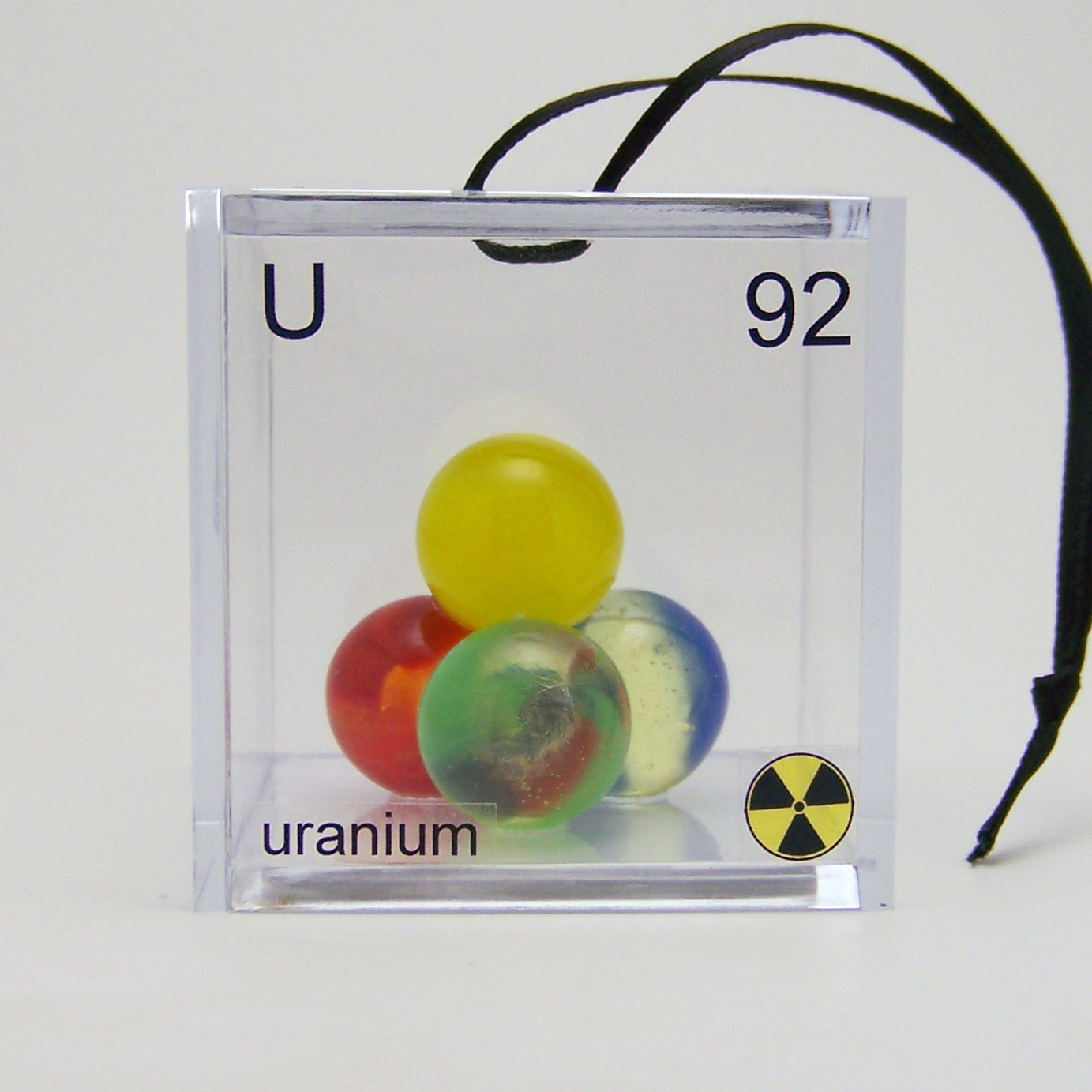 Uranium - Periodic Table of Elements Cube Ornament - ElementsCubed