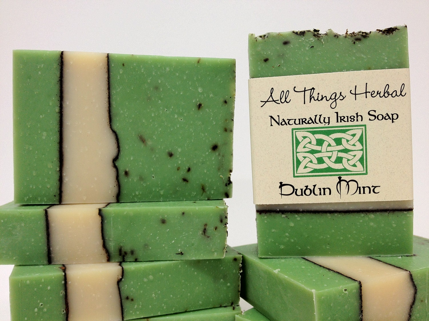 Irish Soap - Dublin Mint  - celebrate all things Irish- handmade natural soap