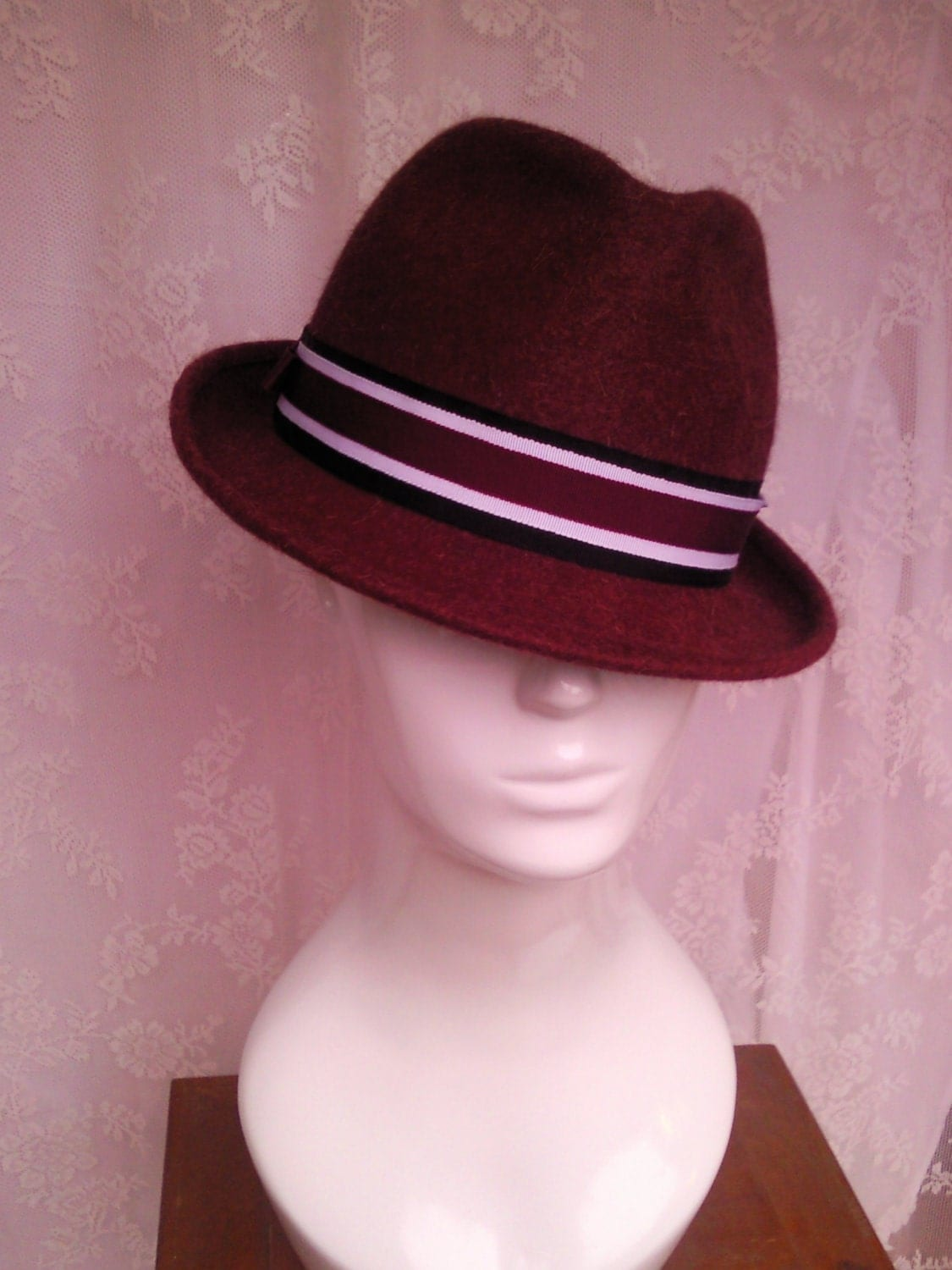 Men's Chianti Red Wool Felt Trilby
