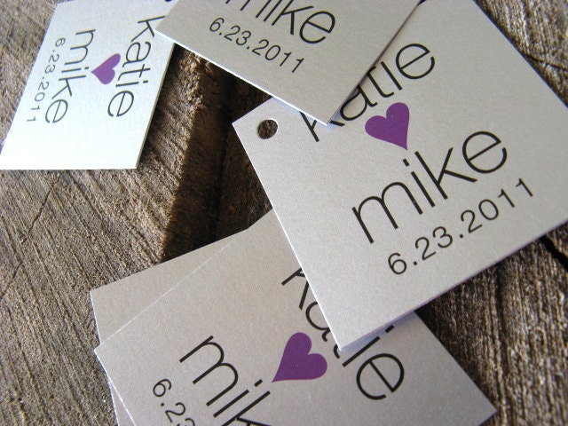 Silver Gift Tags Silver Modern Wedding Favor Tags Wedding Gift Tags