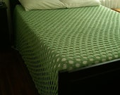 Honeydew (Light Green) Crochet Arch Stitch Bedspread