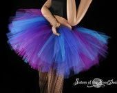 Butterfly tutu skirt Extra puffy purple and blue adult --  You Choose Size -- Sisters of the Moon