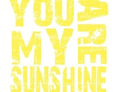 You are My Sunshine  -  Yellow and White Quote- 8x8 Multi Colored Canvas Textured Art Print - Made by artstudio54 on ETSY