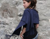 Bamboo shawl or wrap - five colors available - Navy, Natural, Grey, Brown and Black - AnnyMay