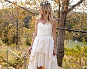 High Low Hem Wedding Dress - Stella by Starlight - thepeppermintpretty