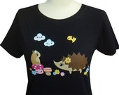 Hedgehog Hamster and Mushroom Womens Tee