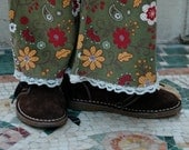 Fall Flowers - Corduroy Flare Pants