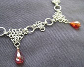 Chainmaille Renaissance Style Collar - Red