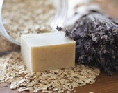 Lavender Oatmeal Soap - 100% Natural, Cold Process, Olive Oil Handmade Soap