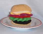 Sale  Crochet Cheeseburger