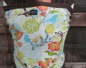 Baby Wrap Sling Carrier-ORGANIC COTTON Baby Wrap/Sling Carrier-Spring Fling on Brown-DvD Included-Newborn to Toddler