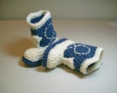 Baby Cowboy Booties - Denim & Ivory -  Please Select SIZE