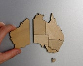 Australia Magnetic Map Puzzle - Birch Plywood