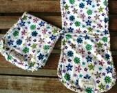 2 Floral Flannel Burp Cloths