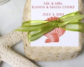 Beach Wedding Favors - Hawaiian Sea Salt Body Scrubs - Seashell Design - MissMaliaDesigns