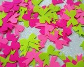paper bow die cut punches hot pink and green neon 100 count