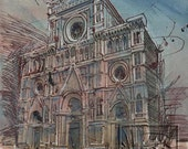 Milan Original Watercolor by Steve Kleier