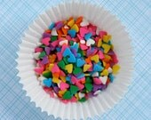 Rainbow Mini Heart Sprinkles for Decorating Cupcakes and Cookies (4 oz)