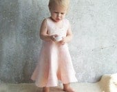 Pink baby girl dress wool felted 100% handfelt super soft gift idea for 1st birthday, weddings flower girl holiday gift luxury under 100